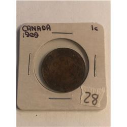 Early 1909 Canada Large Cent