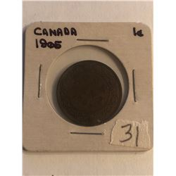 Early 1905 Canada Large Cent