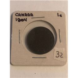 Early 1904 Canada Large Cent