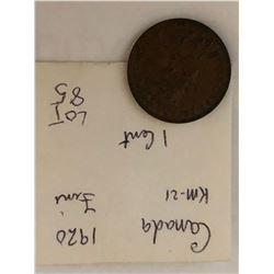 1920 Canada Large Cent Fine Grade