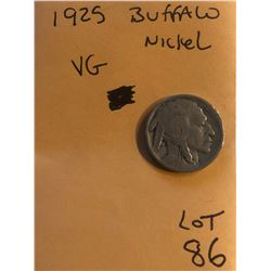 1925 Buffalo Nickel Very Good Grade