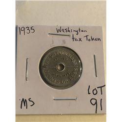 1935 Washington Tax Token in MS High Grade