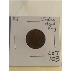Early 1902 Indian Head Penny