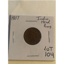 Early 1907 Indian Head Penny