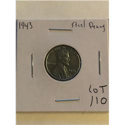 Rare MS High Grade 1943 US WWII Steel Penny
