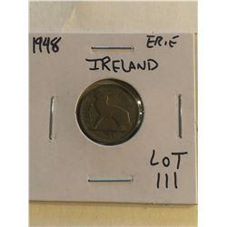 1948 Ireland Erie 3 Pence Coin