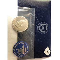 1971 S UNC US Mint Silver Eidenhower Dollar in Original Package