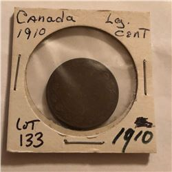 1910 Canada Large 1 Cent Nice Early Coin