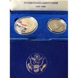 1986 US Silver Liberty Coins Collection in Original US Mint Box