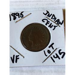 1895 Indian Head Penny Very Fine Grade