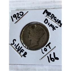 1920 P Mercury Silver Dime Holed for Jewelry