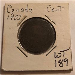 1902 Canada Large 1 Cent Nice Early Coin