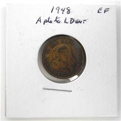 1948 Canada 1 Cent (EF) A Pts to L Dent