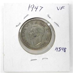 1947 Canada 25 Cents (VF)