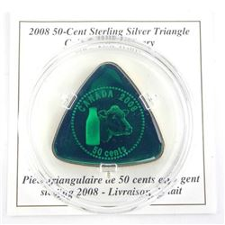2008 - 50 Cent Sterling Silver Triangle Coin 'Milk