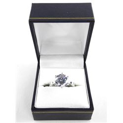925 Silver Ring Swarovski Elements Solitaire 3ct