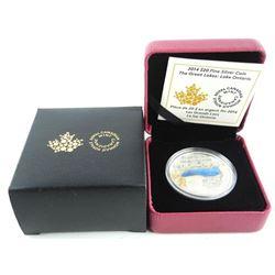 .9999 Fine Silver 20.00 Coin - Lake Ontario. Limit