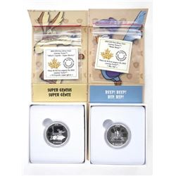 Lot (2) .9999 Fine Silver $10.00 Coins 'Looney Tun