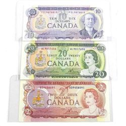 Group of (3) Bank of Canada - 2, 10, 20