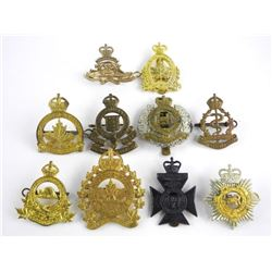 Lot (10) Mixed Canadian Military Cap Badges