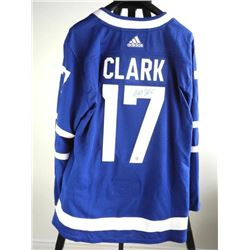 Wendel Clark - Toronto Maple Leaf - Hand Signed Je
