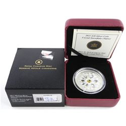 .9999 Fine Silver 20.00 Coin - Crystal Snowflakes