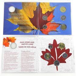 Lot (2) OH CANADA RCM UNC Coin Folios