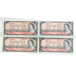 Estate Lot (4) Bank of Canada 2.00 Modified Portra