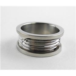 Stainless Steel Band Ring Size 8.5 (ER)