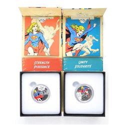 Lot (2) DC Comics 'Unity and Strength' .9999 Fine