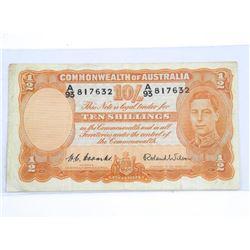 Commonwealth of Australia 1952 10 / Shillings (VG)