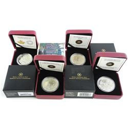 Grouping of (4) .9999 Fine Silver x $20.00 Group o