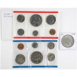 Lot - US 1975 UNC Mint Set Plus 1923 Peace Dollar
