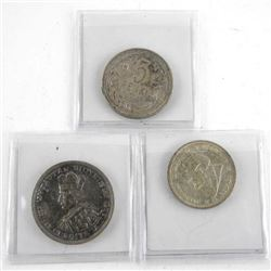 Group of (3) Lithuania Coins 1925, 1936 - 5 and 10