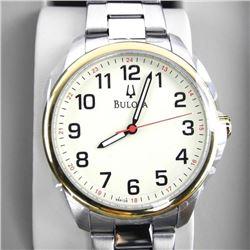 Gents Bulova Watch - Two-Tone - MSR: $240. Brand N