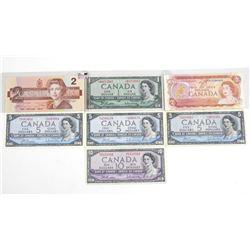 Estate Lot (7) Bank of Canada NoteS: 1986 - 2.00 E