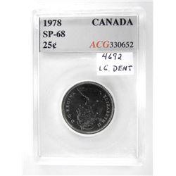 1978 Canada 25 Cent SP-68 ACG