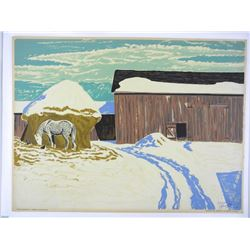 Thoreau MacDonald (1901-1989) Original Oil Silkscr