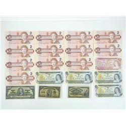 Estate - Grouping Canada Banknotes