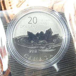 .9999 Fine Silver $20.00 Coin 'Farewell to the Pen
