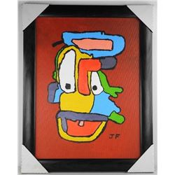 JF - Canvas 'Zaffy Duck' Signed Gallery Frame. 28x