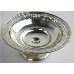 """Estate Sterling Silver Pedestal Dish 6"""" (120gr)"""