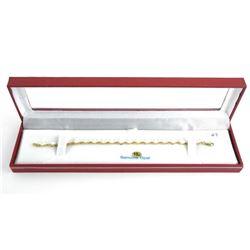 (BB47) Ladies 10kt Gold Opal Set Bracelet, (5.32ct