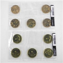 Lot (10) Canada Dollar Coins - 2 x 5PAC Lucky Loon