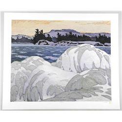 Tryon Mint - A.J. Casson (1898-1992) Litho 'Ice Ha
