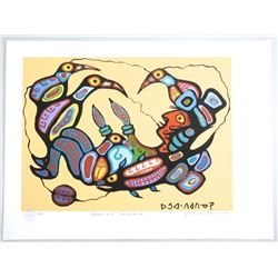 Norval Morrisseau (1969-) Giclee 'Shaman and Thund