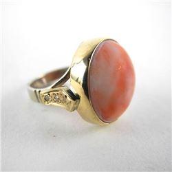Estate 9kt Gold Ring with Gemstone