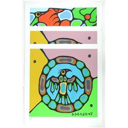 Grouping (3) Norval Morrisseau (1931-2007) 'Giclee