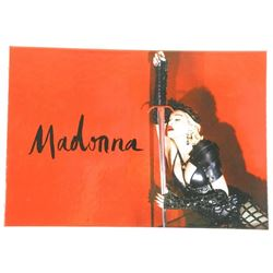 Madonna VIP TOUR Collector Book with Genuine Memor