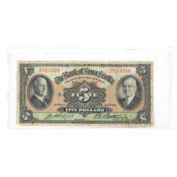 Bank of Nova Scotia 1935 Five Dollar Note